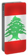 Flag Of Lebanon Wall Portable Battery Charger