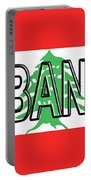 Flag Of Lebanon Word Portable Battery Charger