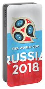 Flag Russia World Cup Portable Battery Charger
