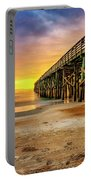 Flagler Beach Pier At Sunrise In Hdr Portable Battery Charger