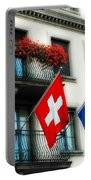 Flags Of Switzerland And Zurich Portable Battery Charger