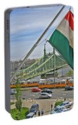 Flags Over Budapest Portable Battery Charger