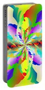 Flamboyant Fractal Fire Flower Portable Battery Charger