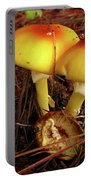 Flame Pluteus Mushroom  Portable Battery Charger