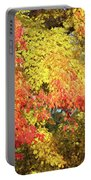 Flaming Autumn Leaves Art Portable Battery Charger