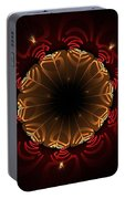 Flaming Night Flower Portable Battery Charger