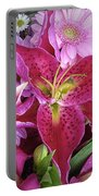 Flaming Tiger Lily Portable Battery Charger