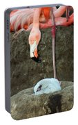 Flamingo And Chick Portable Battery Charger