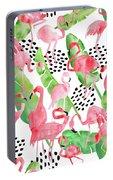 Flamingo Paradise Portable Battery Charger