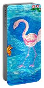 Flamingo Portable Battery Charger