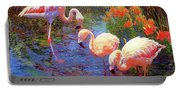 Flamingo Tangerine Dream Portable Battery Charger