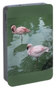Flamingoes Posing Portable Battery Charger