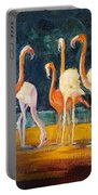 Flamingos Portable Battery Charger by Judy Fischer Walton