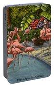 Flamingos Vintage Postcard Portable Battery Charger