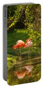 Flamingos Wading Portable Battery Charger