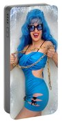 Flashing. Dance With Gold Chain Portable Battery Charger