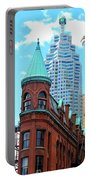 Flat Iron Building Portable Battery Charger