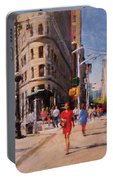 Flatiron Plaza, Summer Morning Portable Battery Charger