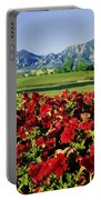 210546-v-flatirons And Flowers V  Portable Battery Charger