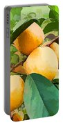 Fleshy Yellow Plums On The Branch Portable Battery Charger