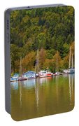 Floating Homes Along Multnomah Channel In Portland Oregon Portable Battery Charger