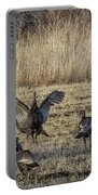 Flock Of Wild Turkeys Portable Battery Charger