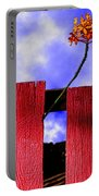 Flora And The Red Fence Portable Battery Charger