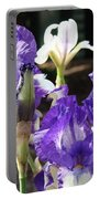Flora Bota Irises Purple White Iris Flowers 29 Iris Art Prints Baslee Troutman Portable Battery Charger
