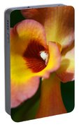 Floral Art - Intimate Orchid 3 - Sharon Cummings Portable Battery Charger