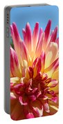 Floral Art Pink Yellow Dahlia Flower Baslee Troutman Portable Battery Charger