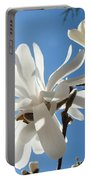 Floral Art Print Landscape Magnolia Tree Flowers White Baslee Troutman Portable Battery Charger