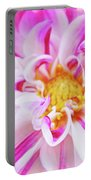 Floral Art Prints Big Pink White Dahlia Flower Baslee Troutman Portable Battery Charger