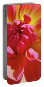 Floral Art Prints Orange Pink Dahlia Flower Baslee Troutman Portable Battery Charger