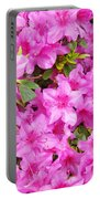 Floral Art Prints Pink Azalea Garden Landscape Baslee Troutman Portable Battery Charger