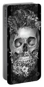 Floral Beard Skull 3 Portable Battery Charger