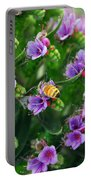 Floral Beehive Portable Battery Charger
