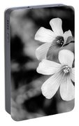 Floral Black And White Portable Battery Charger