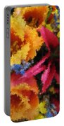 Floral Blast Portable Battery Charger