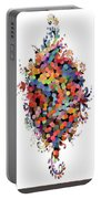 Floral Bouquet Abstract With Dots Portable Battery Charger