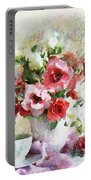 Floral Bouquet Table Setting In Tiny Bubbles Portable Battery Charger