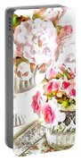 Floral Bouquets Pink Roses  Portable Battery Charger