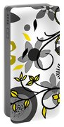 Floral Collision Portable Battery Charger