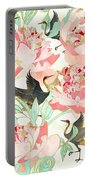 Floral Cranes Portable Battery Charger by Spacefrog Designs