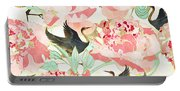 Floral Cranes Portable Battery Charger