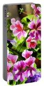 Floral Design 5 Light Portable Battery Charger