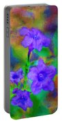 Floral Expression Portable Battery Charger