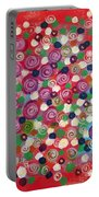 Floral Field  Portable Battery Charger