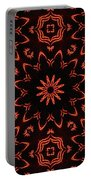 Floral Fire Tapestry Portable Battery Charger