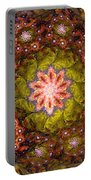Floral Fractal Wreath  Portable Battery Charger
