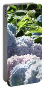 Floral Garden Art Prints Blud Hydrangea Flowers Portable Battery Charger